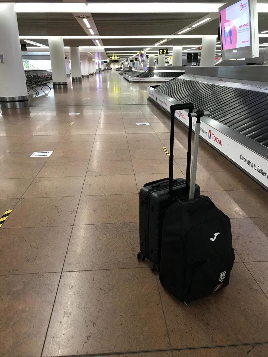 Stijn D'Hulst kwam aan in een zo goed als lege luchthaven in Zaventem.