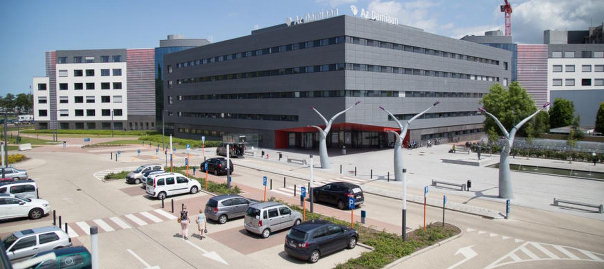 In AZ Damiaan in Oostende liggen ook nog acht patiënten op de afdeling intensieve zorgen. (GF)