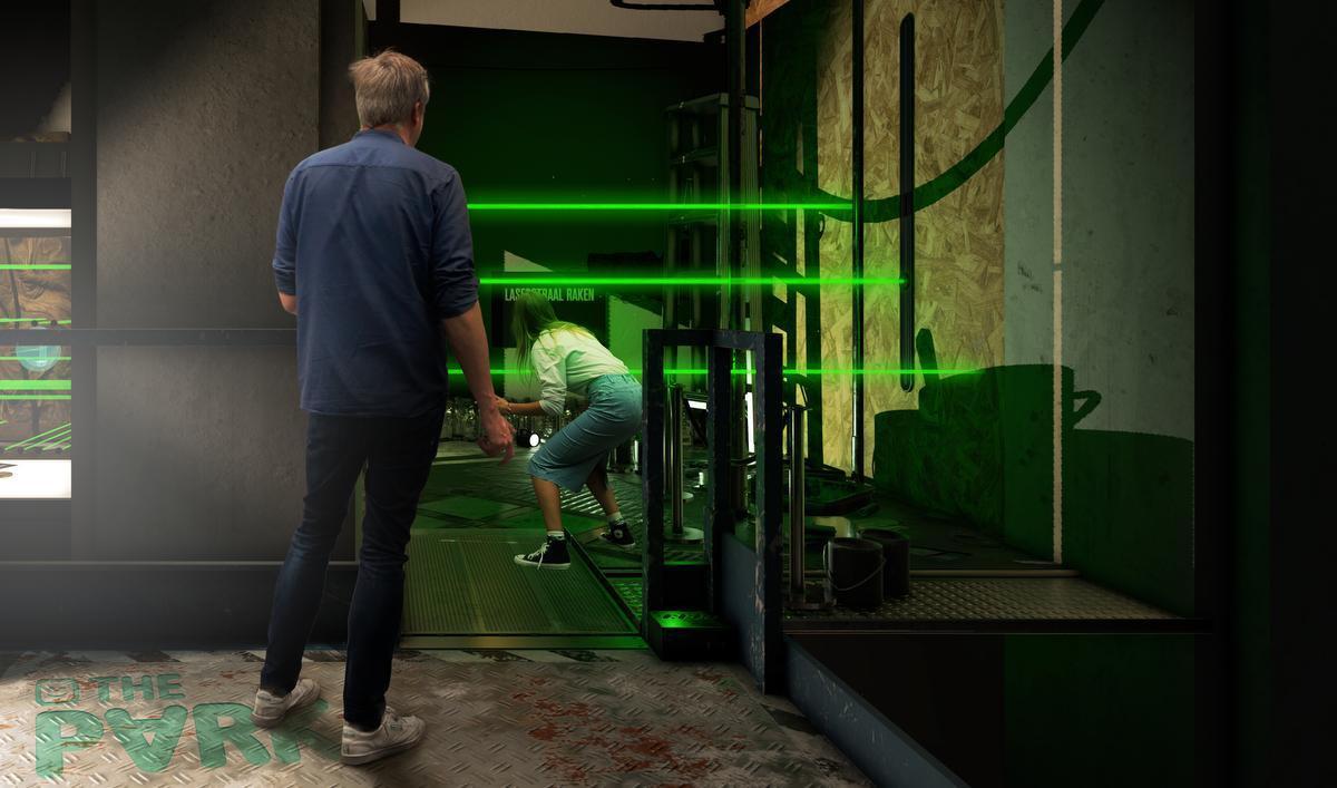 In het spel moet je onder meer lasers ontwijken. Tenzij je de Mol bent natuurlijk... (Foto Telenet)