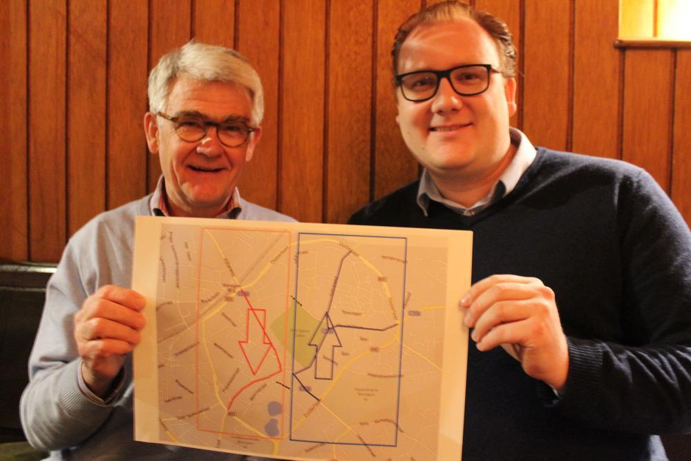 Guy Vanden Eynde en Michiel Vandewalle van het oppositiekartel zijn blij dat het schepencollege interesse heeft in hun voorstel.