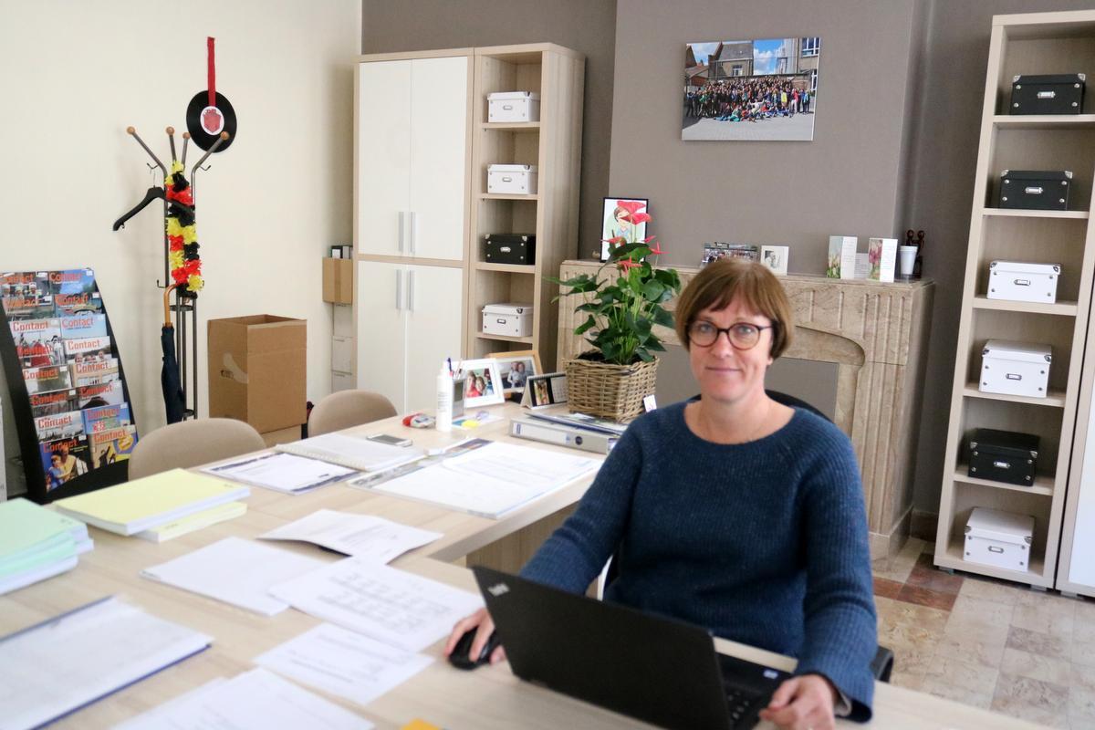Isabelle De Keyser, directrice 't Saam campus Aloysius. (foto ACK)