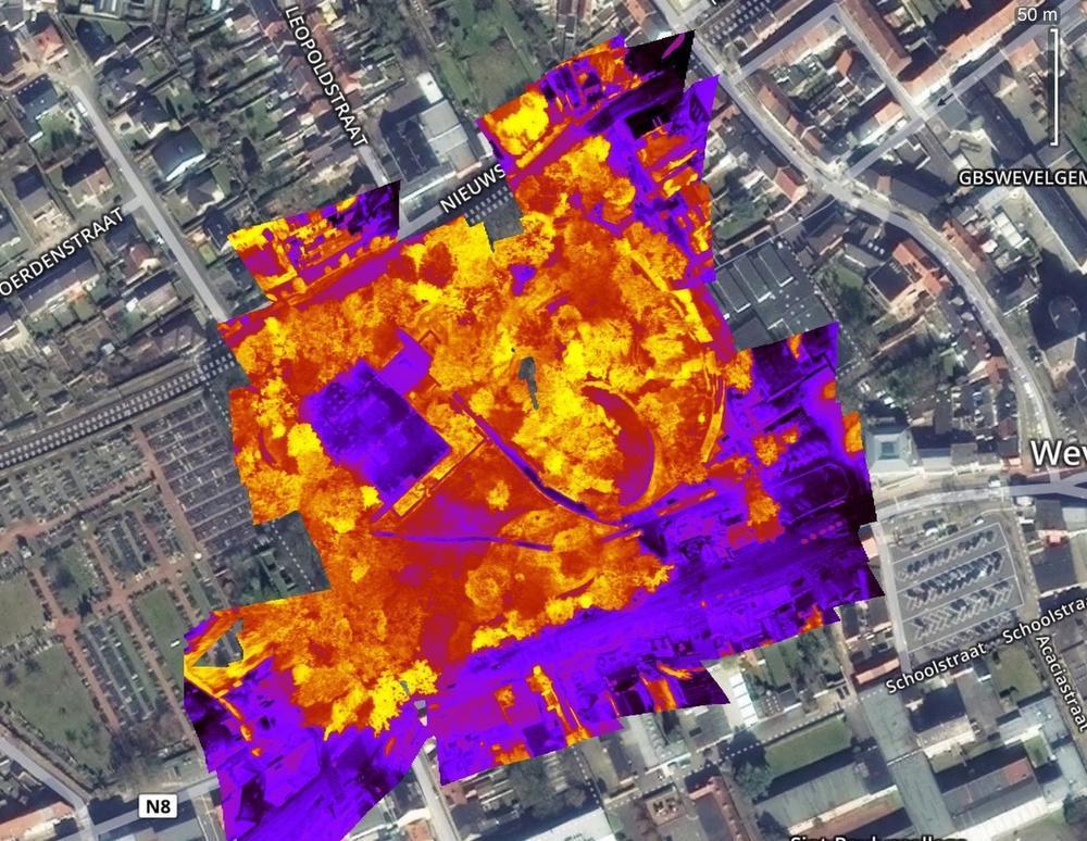 Drone bekijkt hoe gezond Wevelgems park is