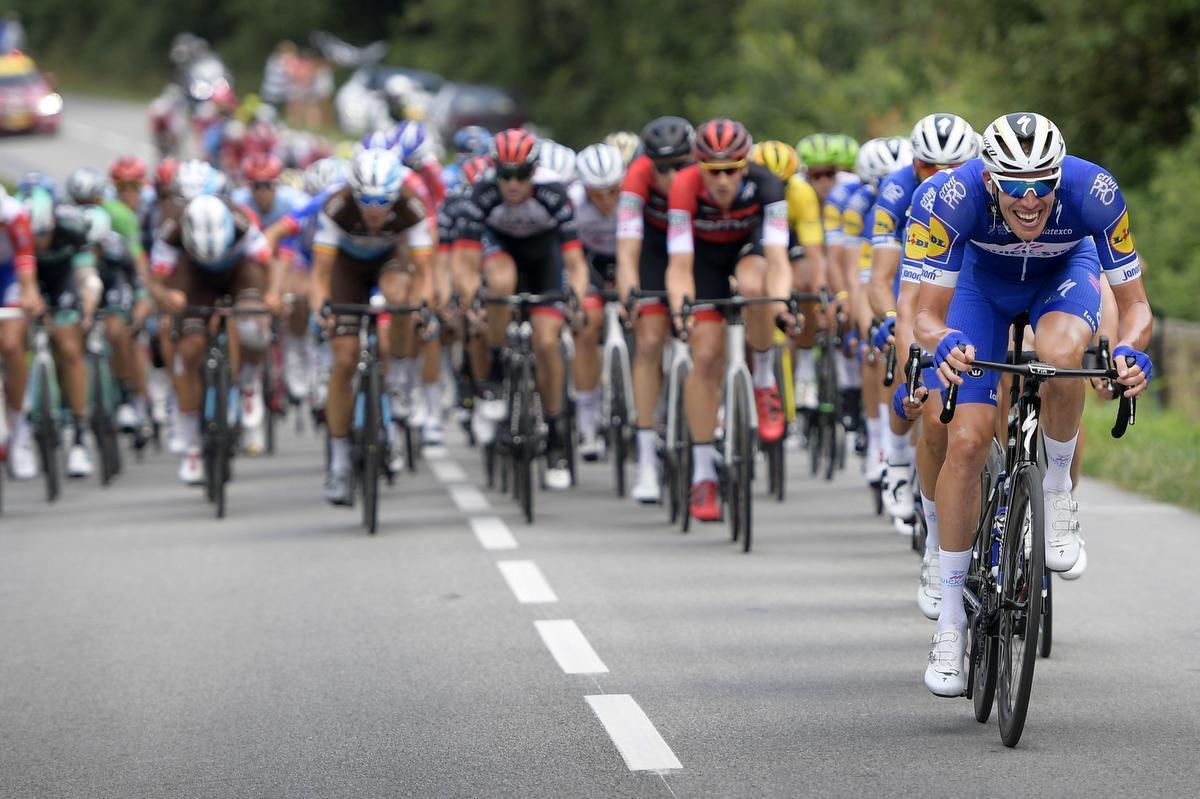 Tim Declercq reed de Tour al in 2018. (foto Belga)