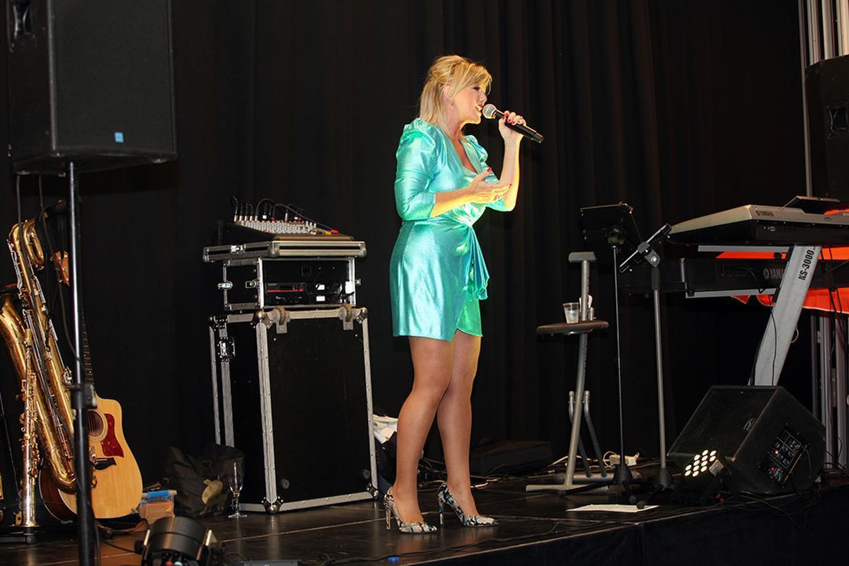 Lindsay genoot van haar optreden.