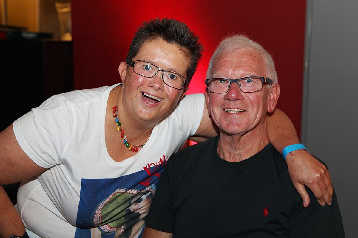 De superfans Adeline en Guido Vandeweghe uit Pittem.
