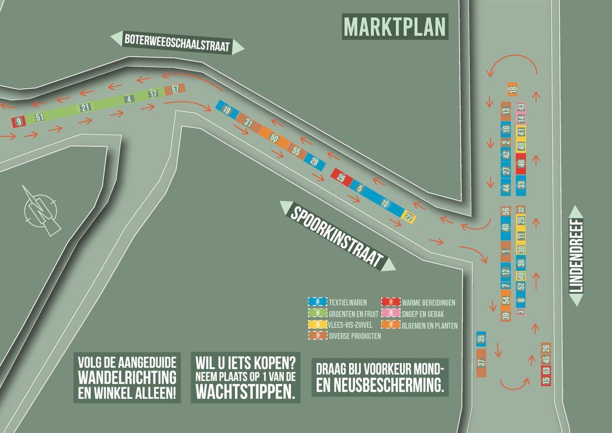 Woensdagmarkt Veurne start op Lindendreef als centrale locatie