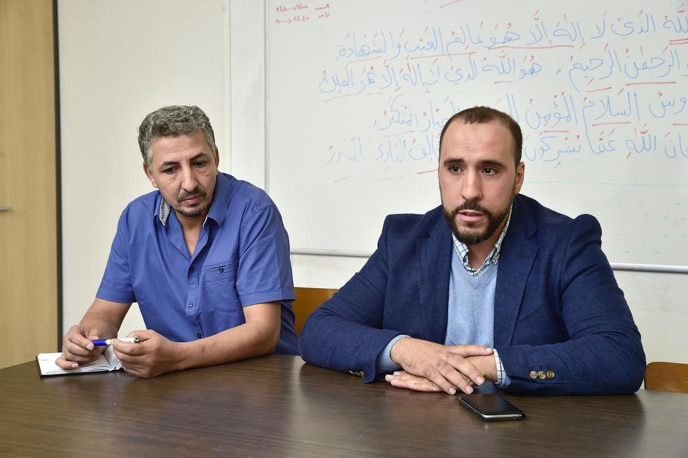 Abdennaïm Rakraki en Brahim Bouzarif.