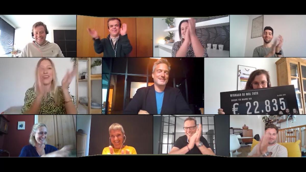 Mollenvanger Marc Denys neemt afscheid van winnares Jolien, Alina en de leuke groep