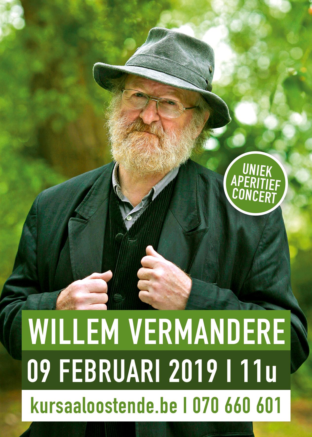 Willem Vermandere viert 79e verjaardag met een middagconcert in Oostende