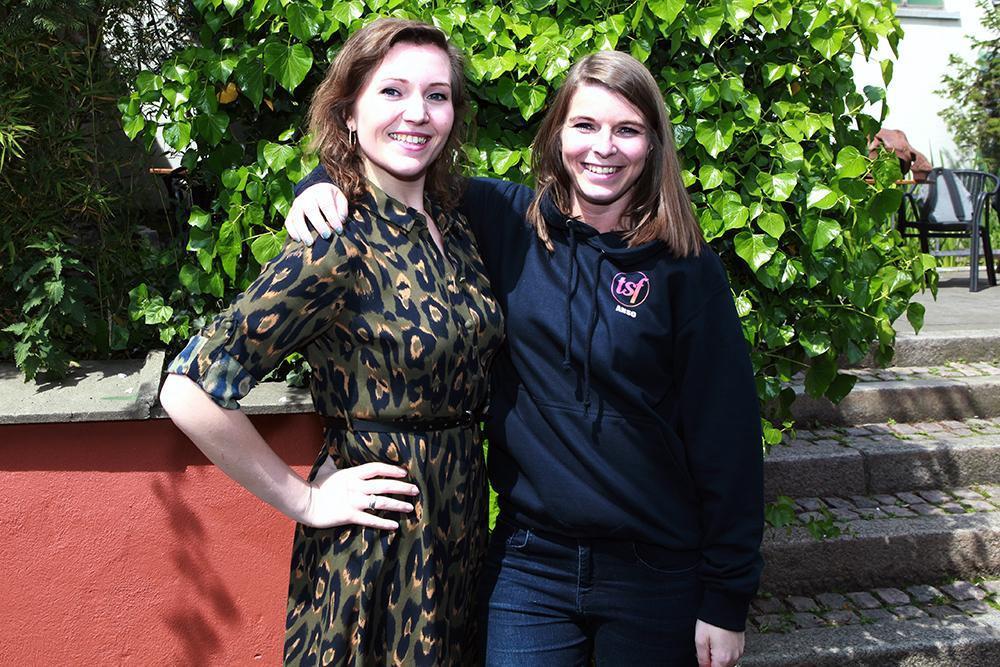 Saïn Vantomme (links) uit Menen en Ann-Sophie Metselaar uit Brugge. (Foto FODI)