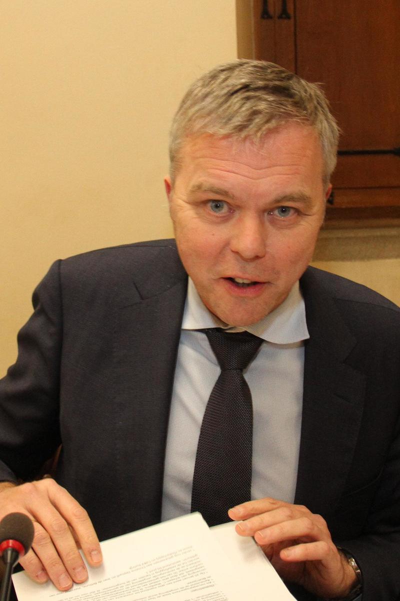 Piet Lombaerts, huidig voorzitter van N-VA Kortrijk.