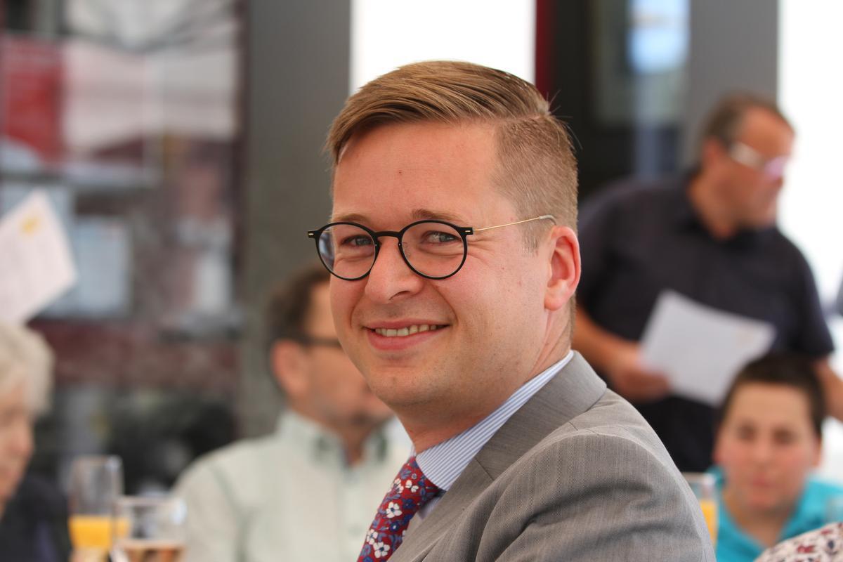 Wouter Vermeersch, kopstuk van Vlaams Belang Kortrijk en Kamerlid.