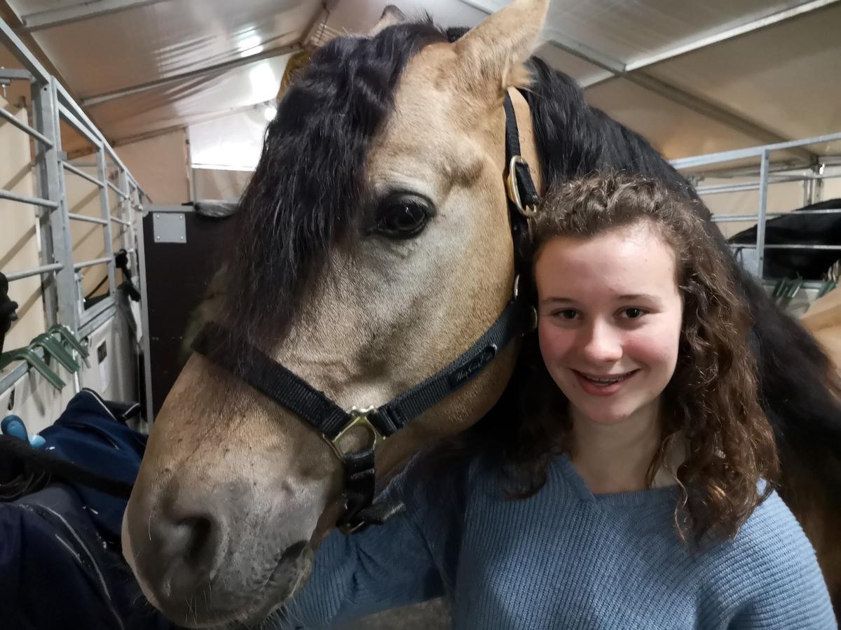 Voor een échte paardenliefhebster als Lieze was het écht genieten.