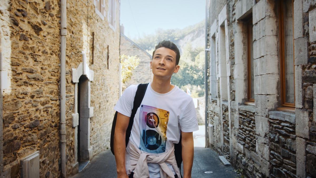 Thomas op stap en dromen van zijn nieuw Duits muzikaal avontuur.