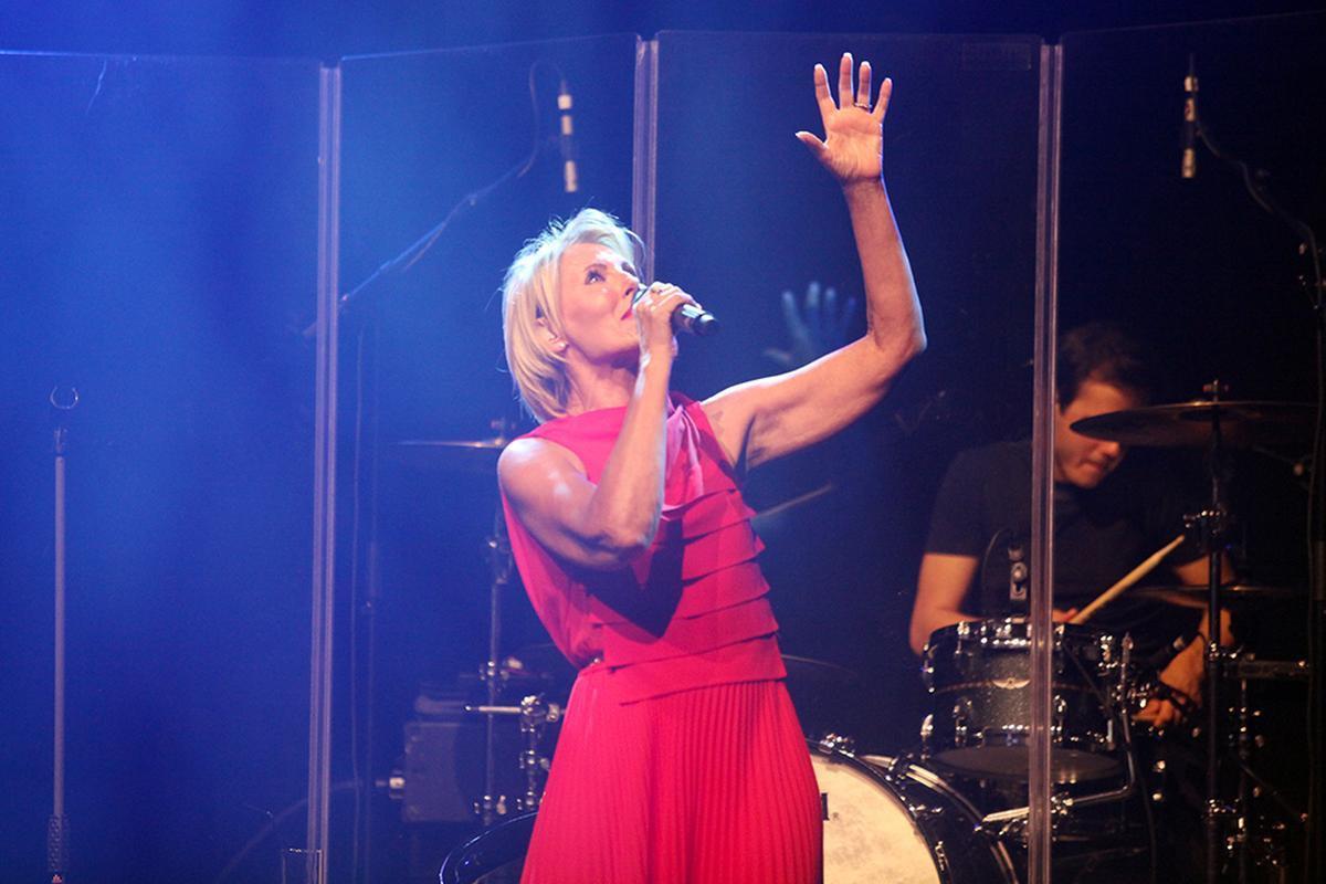 De zangeres zong heel wat van haar grote hits.