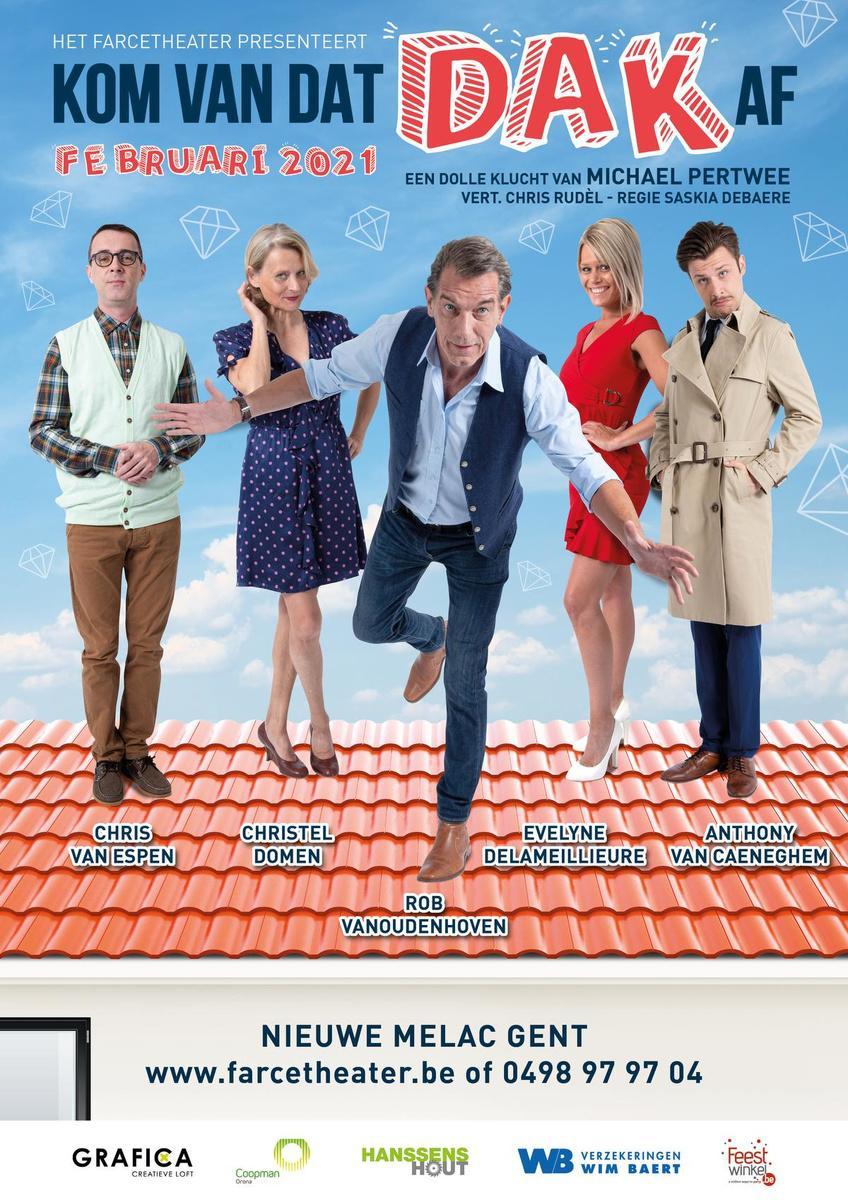 Evelyne Delameillieure speelt mee, Saskia Debaere regisseert komedie 'Kom van dat dak af !
