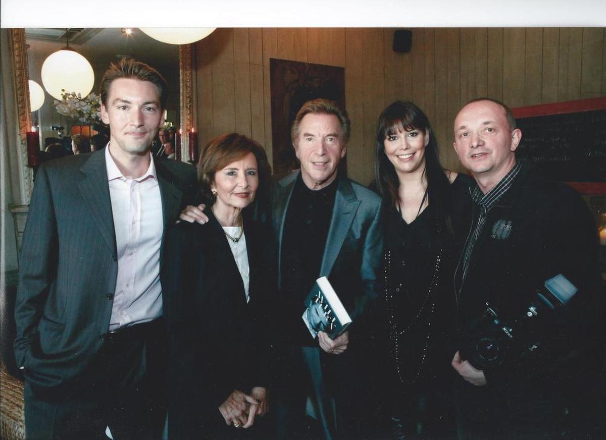 Een unieke foto met het voltallig gezin Blanckaert, inclusief dochter Sandy en zoon David.