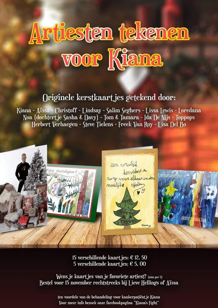 Christoff, Lindsay, Tom & Tamara... tekenen kerstkaarten voor zieke Kiana