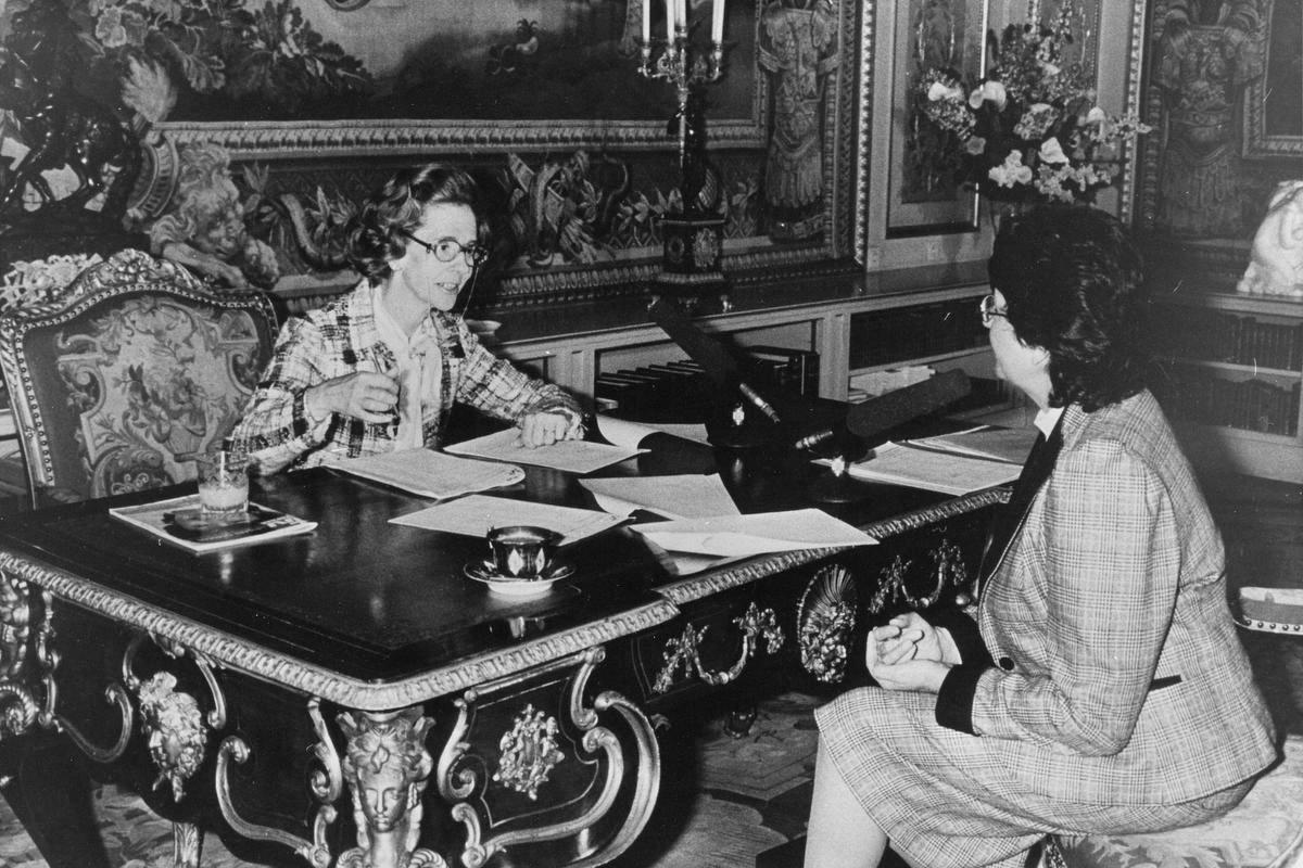 Het hoogtepunt uit de carrière van Lutgart Simoens: het interview in 1984 met koningin Fabiola.