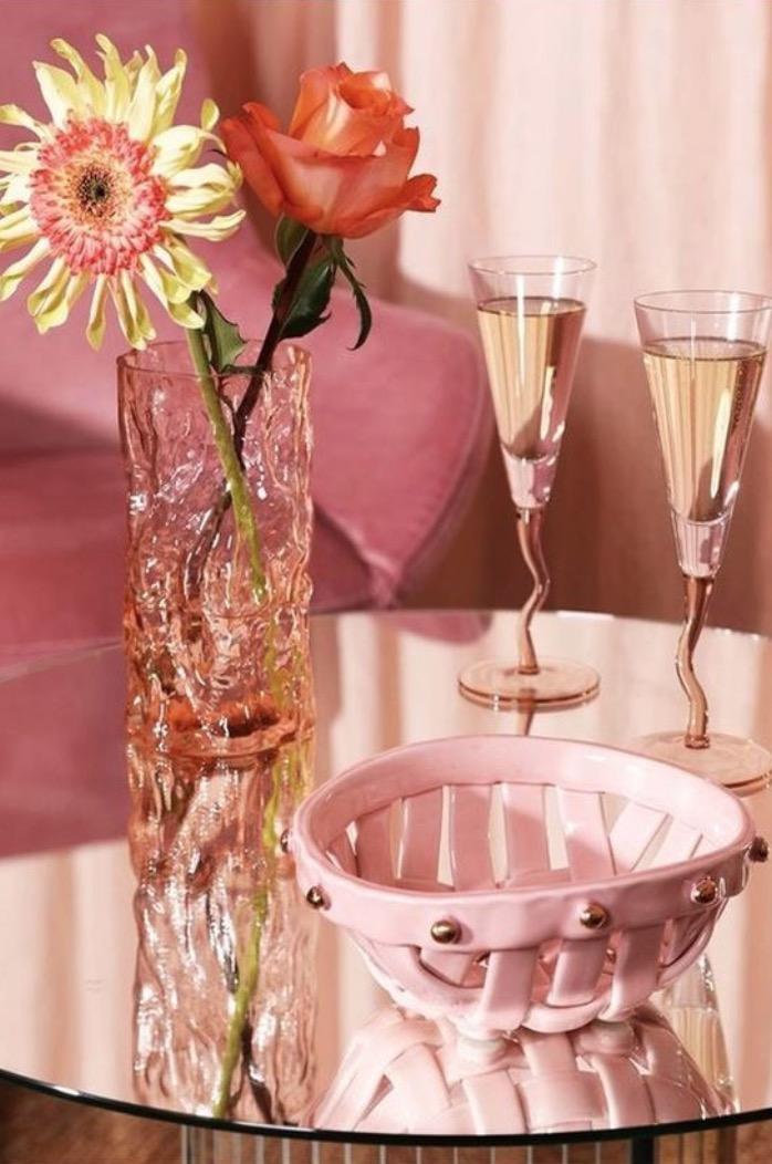&KLEVERING Vase Trunk Pink 1L