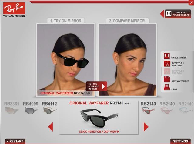 e5528489240835 Essayage de lunettes sur le site de Ray-Ban - Gael.be