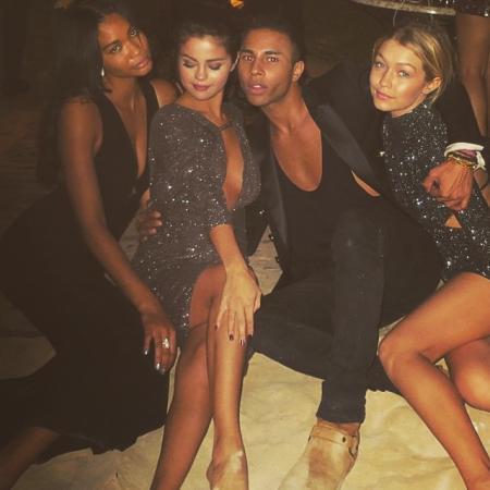 Chanel Iman, Selena Gomez, Olivier Rousteing & Gigi Hadid