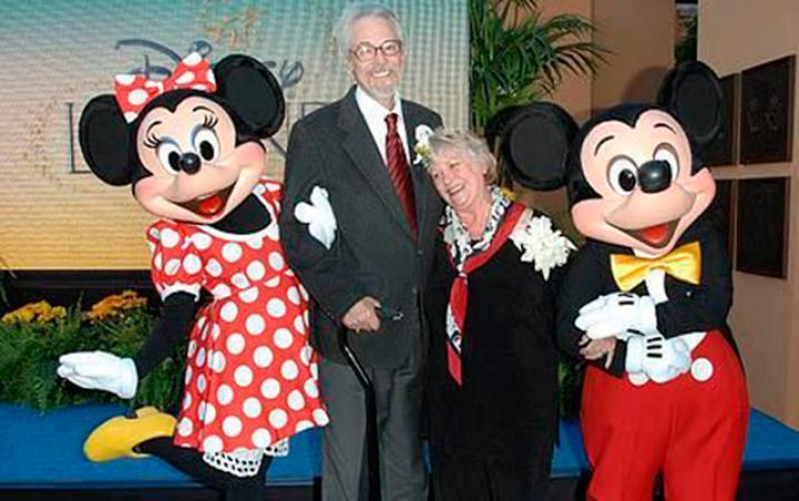 2. De acteurs die de originele stemmen van Mickey en Minnie Mouse inspraken, waren in het echte leven getrouwd.