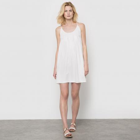 witte jurk met spaghettibandjes