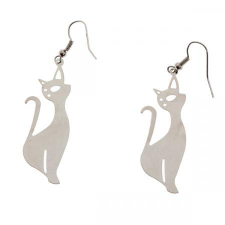 Zilverkleurige kattenoorbellen