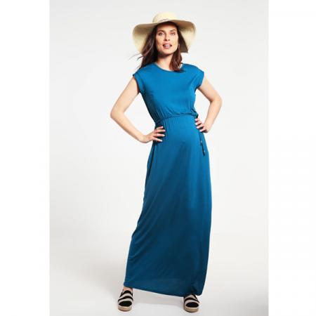 Blauwe maxi-jurk