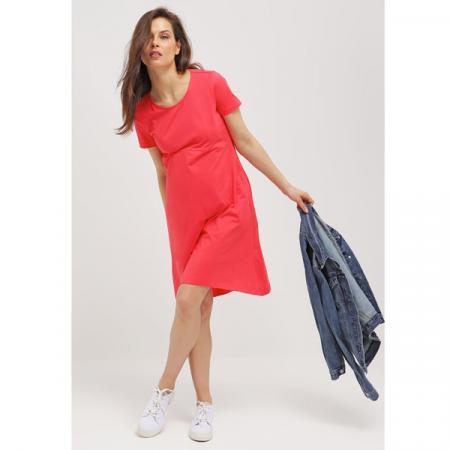 Koraalroze jurk