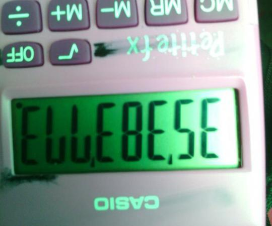Écrire des mots sur sa calculatrice