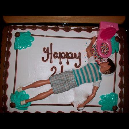 Realistische verjaardagstaart