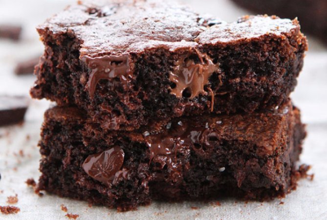 Chocoladecakejes met Nutella en zeezout