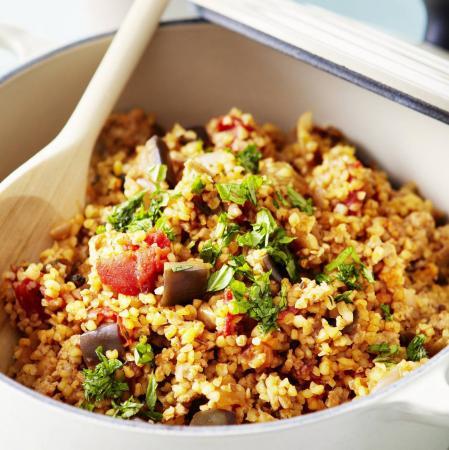 Woensdag: mediterrane groenten met bulgur