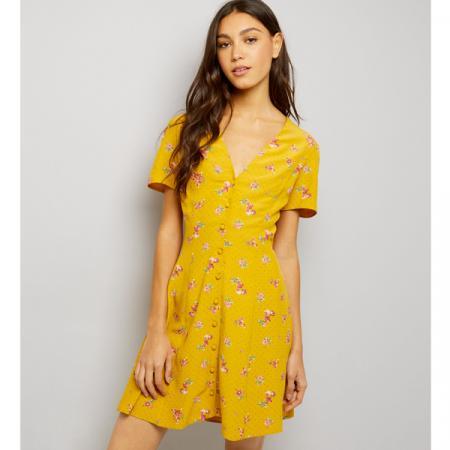 a07e0a051f2e Comment porter la petite robe jaune soleil en ville?