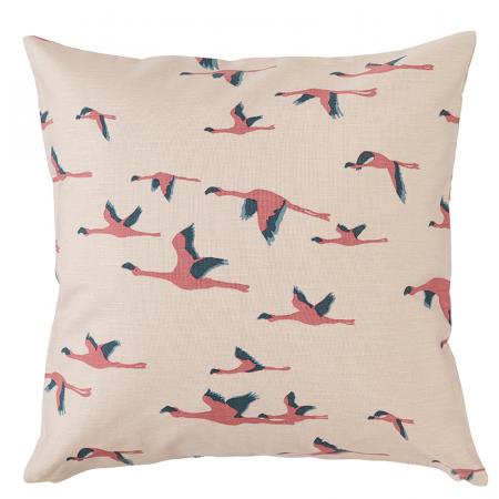 Kussen met flamingoprint