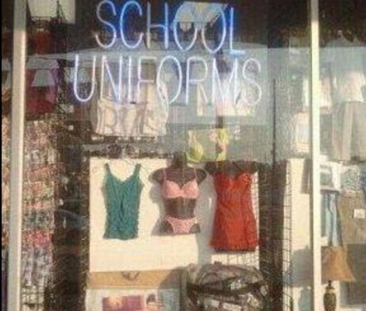 Sexy lingerie is key voor de perfecte schooloutfit.