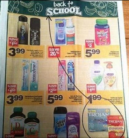 Wie aan de eerste schooldag denkt, denkt ook aan een pakje condooms.
