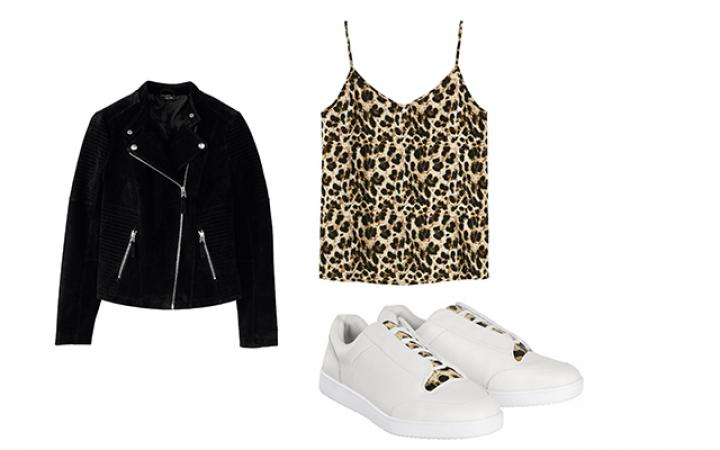 Outfit 1: Edgy, sexy, comfy