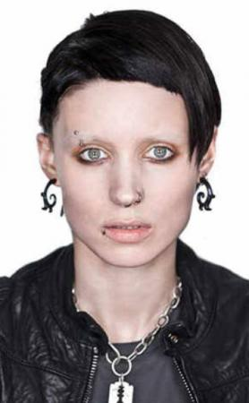 Rooney Mara voor 'The Girl With The Dragon Tattoo'