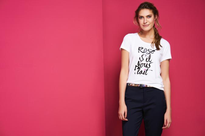 T-shirt 'Rosé, s'il-vous-plaît' van Xandres