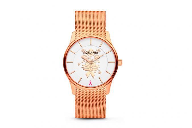 Horloge Rodania roségoud (ook in zilver)