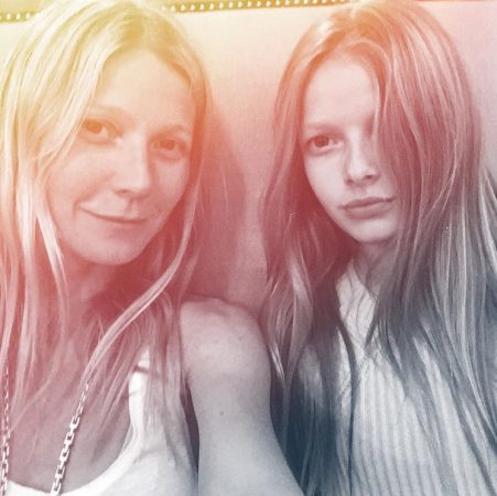 Gwyneth Paltrow en haar dochter Apple
