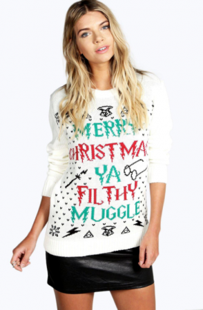 Kersttrui Matching.Deze Ugly Christmas Sweater Is Perfect Voor Alle Harry Potter Fans