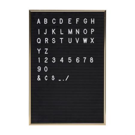 Retro letterbord