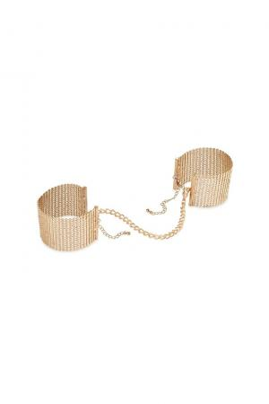 Desir metallique mesh handcuffs gold