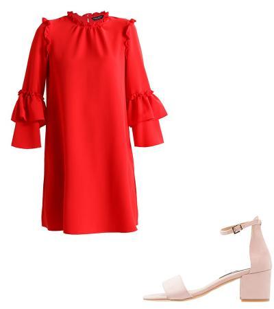 156fd6d0d4ad88 8 stijlvolle manieren om je rode jurk te combineren