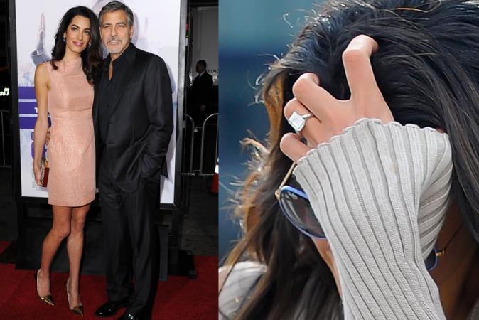 George Clooney voorAmal Alamuddin
