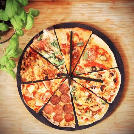 Pizza wandklok